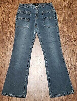 Vintage Adolfo Jeans Womens Size 10 No Back Pockets Stretch Distressed -