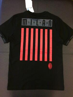 AC Milan Soccer Tee / T-shirt Black/Red - Puma Men's - TN18969