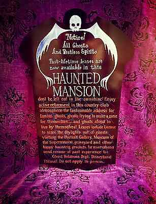 Disneyland Haunted Mansion Pre Opening Sign 1969 Rare Htf Disneyana Disney World