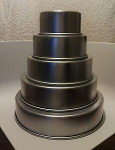 Parrish Magic Line 3 Round Wedding Cake Pan Set Of 5 6 8 10 12 14