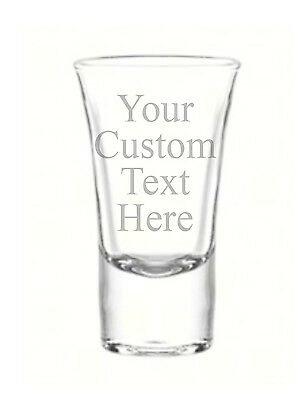 Personalized Shot Glass Glasses Free Engraving Groomsman Bridesmaids Custom Gift
