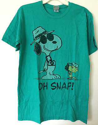 JUNK FOOD SNOOPY PEANUTS WOODSTOCK GRAPHIC TEE T-SHIRT BRAND NEW OH SNAP ()