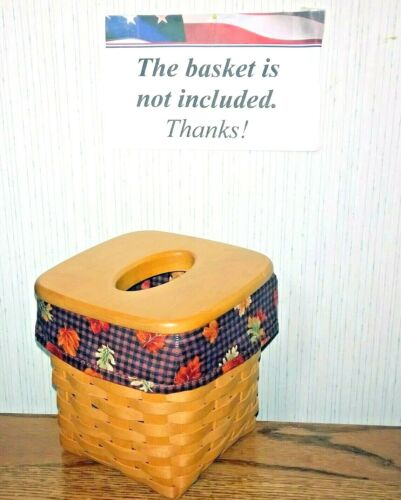 Tall Tissue Basket Liner from Longaberger Fall Gingham fabric! New!