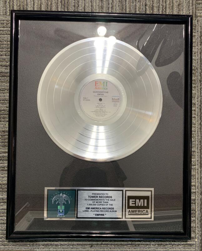 Queensryche Empire  EMI America Platnium Record- Tower Records