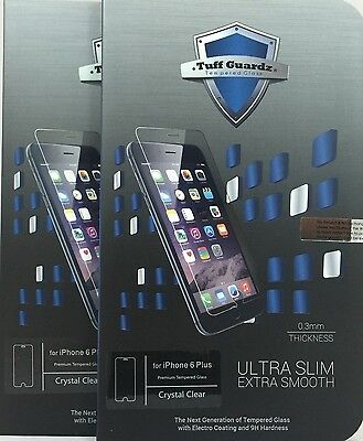 Lots of 2 Best New Premium Tempered Glass Screen Protector iPhone 6 Plus