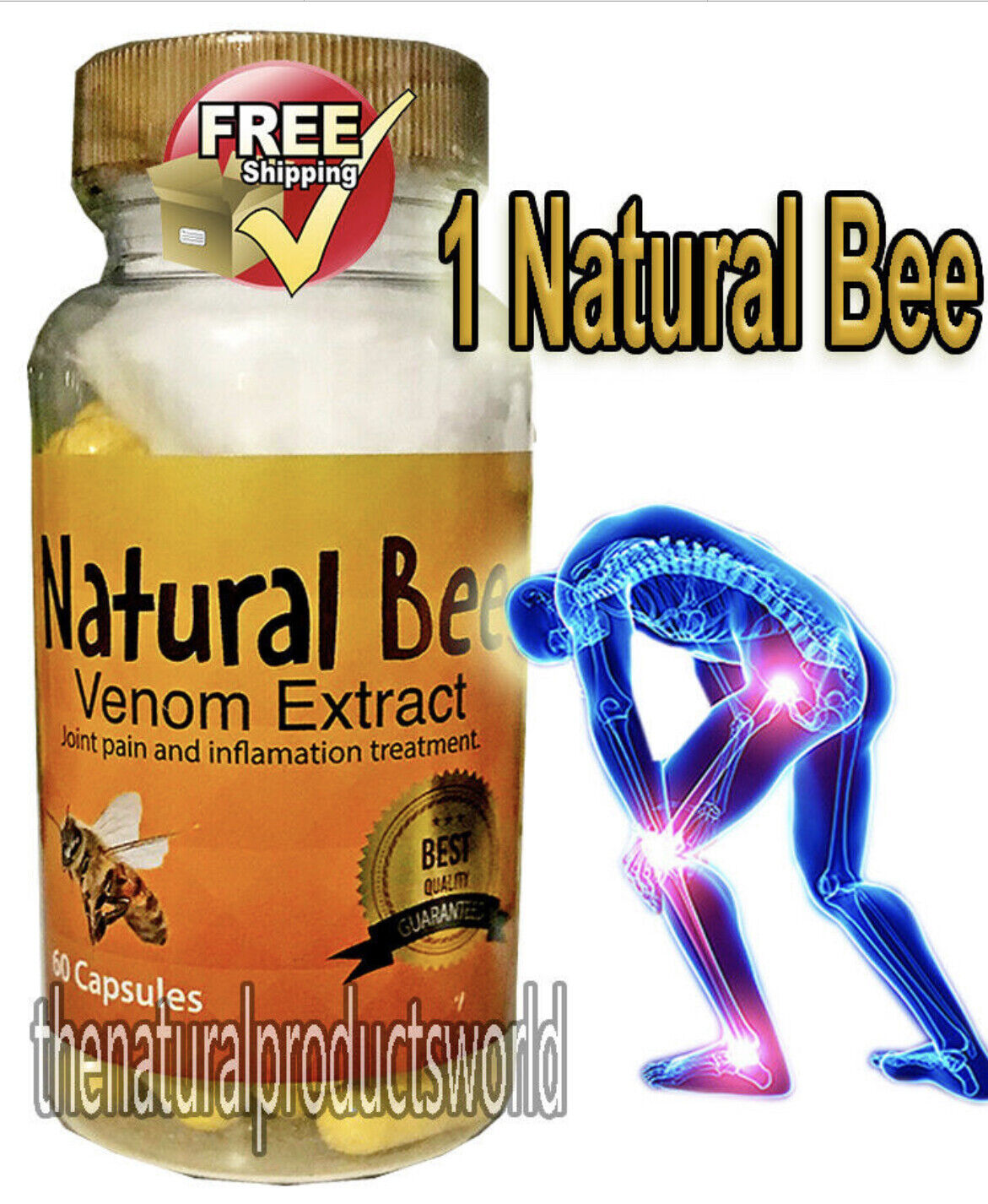 NATURAL BEE Venom Extract anti-inflamatory Extracts Arthritis Pain Abee therapy. 1