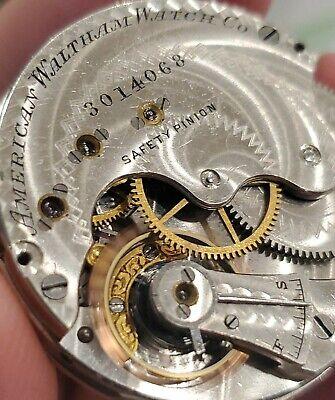 Antique 1886 Waltham Pocket Watch, RUNS!, 6s, 13j, Hunting Movement