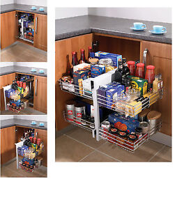 Blind corner optimiser magic corner storage for 800 for Kitchen cabinets 1000mm