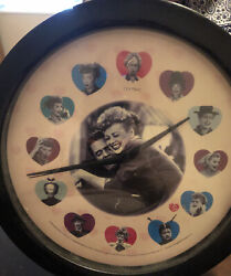 I Love Lucy Wall Clock  Hearts Design Lucille Ball NEW