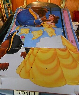 1991 Walt Disney Beauty And The Beast Life-Size Cardboard Theatre - Disney Life Sized Stand