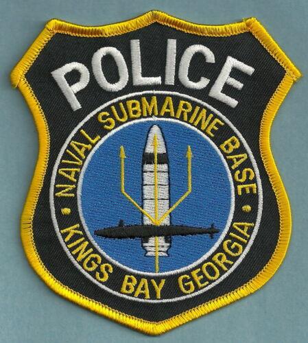 KINGS BAY GEORGIA NAVAL SUBMARINE BASE POLICE PATCH