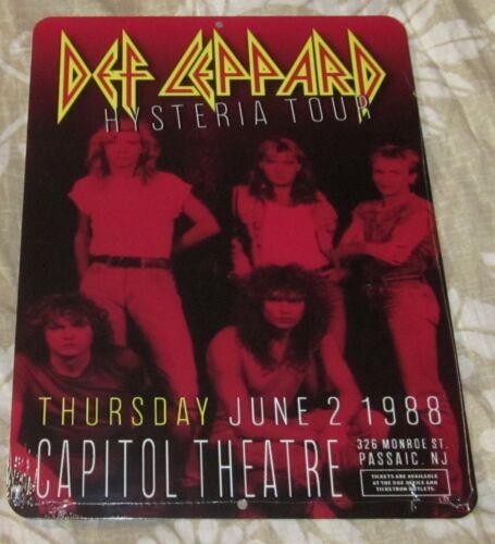 """DEF LEPPARD 1988 CAPITOL THEATRE 9""""x12"""" CUSTOM ALUMINUM CONCERT SIGN FREE SHIP"""