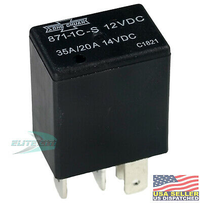 Song Chuan Iso Relay 12vdc Coil Spdt 3520a Pn 871-1c-s 12vdc Sealed Wasable