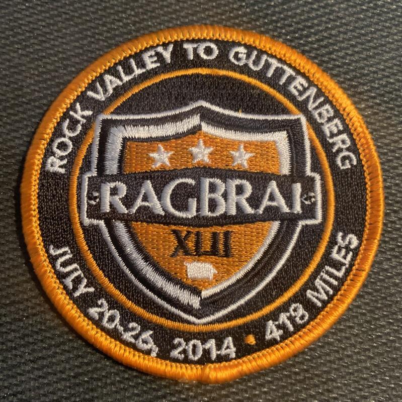 2014 RAGBRAI XLII Sew on Patch Des Moines Iowa Cycling Biking - Free Shipping