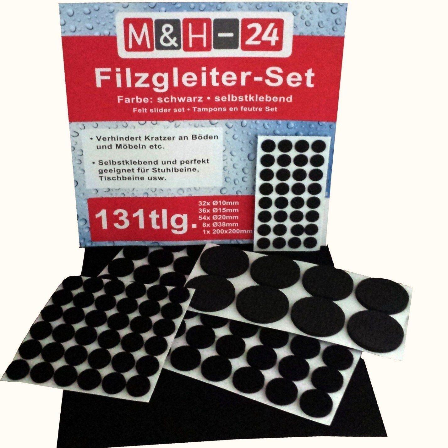 24 Filzgleiter zum schrauben rund Ø 24 mm Eisen Filz Möbelgleiter Parkettgleiter