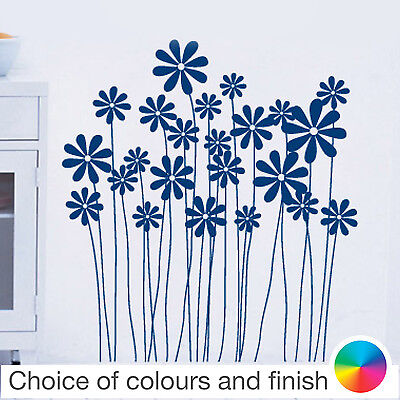 Home Decor Kit (Flowers & Stems Kit Wall Sticker Home Decor Bedroom Living Room Kitchen Decal)
