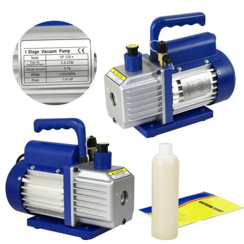 1/4hp Rotary Vane Deep Vacuum Pump 3.5CFM R410a R134 HVAC AC Refrigerant Charge Business & Industrial