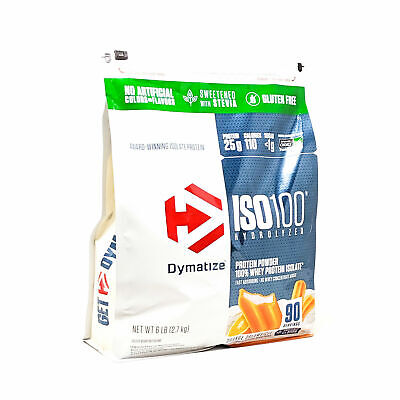 Dymatize ISO-100 Whey Protein Isolate 6LB Bag Orange Dreamsicle 90 SERVINGS