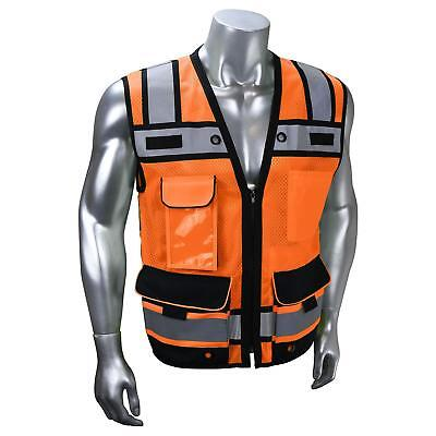 Radians Heavy Duty Class 2 Reflective Surveyor Safety Vest Orange