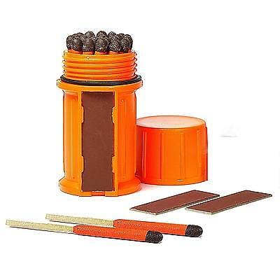 Uco Stormproof Waterproof Match Case  25 Stormproof Matches And 3 Strikers