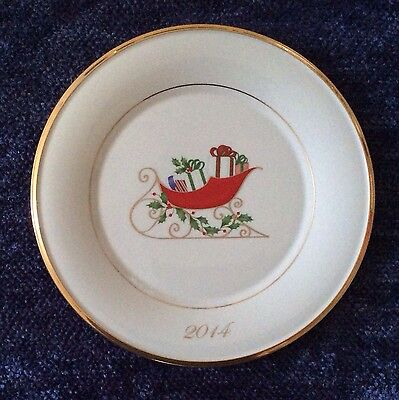 Lenox 2014 Annual Holiday Accent Collector Plate Firat Quality New W Tag Perfect