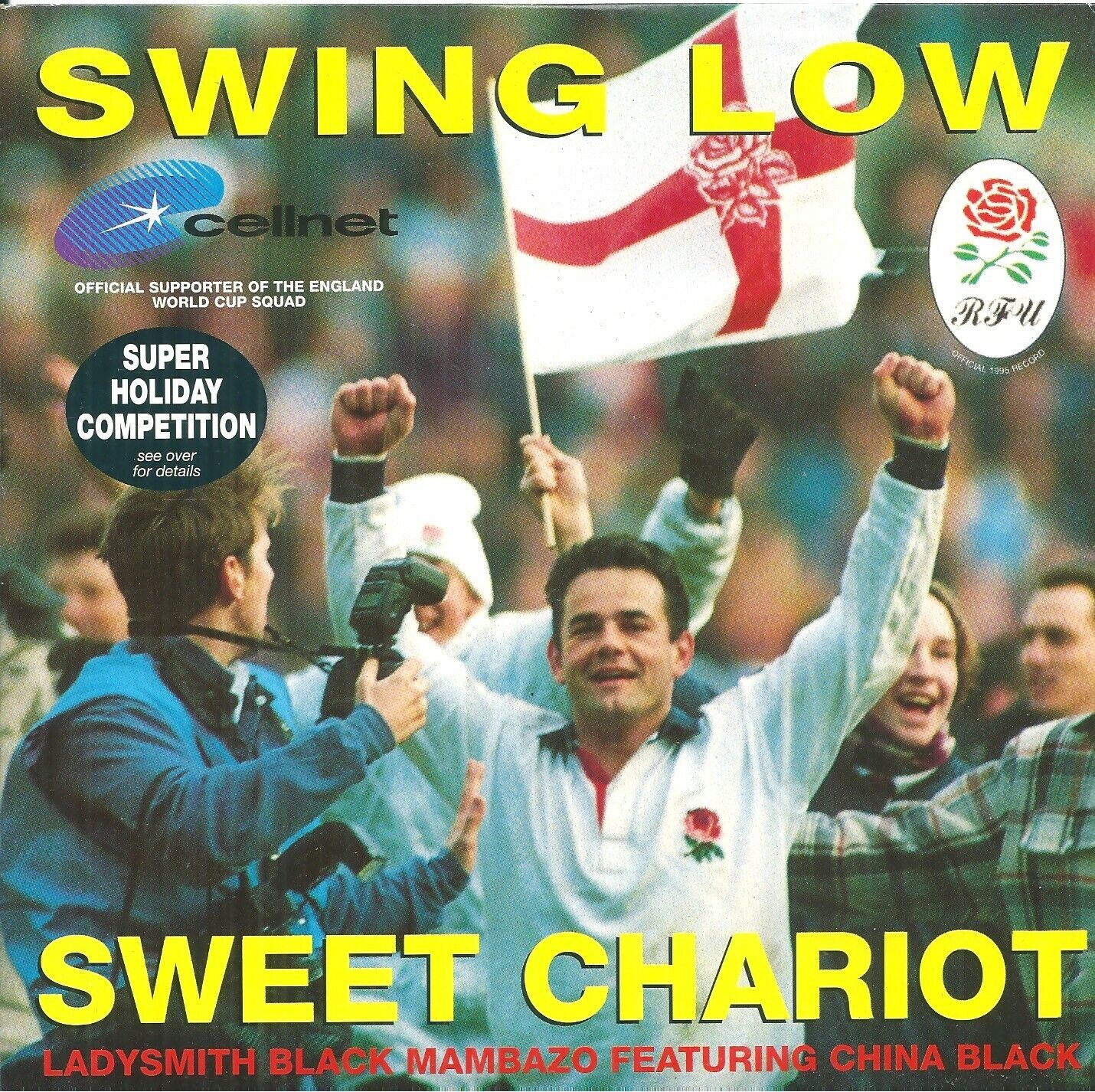 "ENGLANG RUGBY WORLD CUP - Swing Low Sweet Chariot  7"" Vinyl 45rpm Nr Mint"