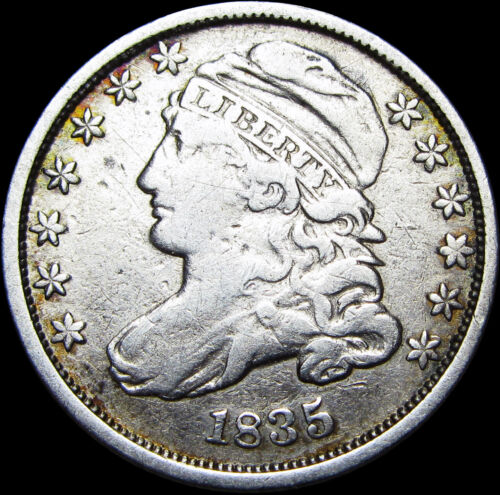 1835 Capped Bust Dime Silver US Coin ---- NICE TYPE COIN ---- #A109