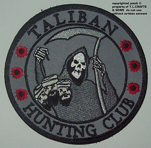 TALIBAN-HUNTING-CLUB-DEATH-REAPER-HEAD-HUNTER-VELCRO-MORALE-MILITARY-PATCH-SWAT