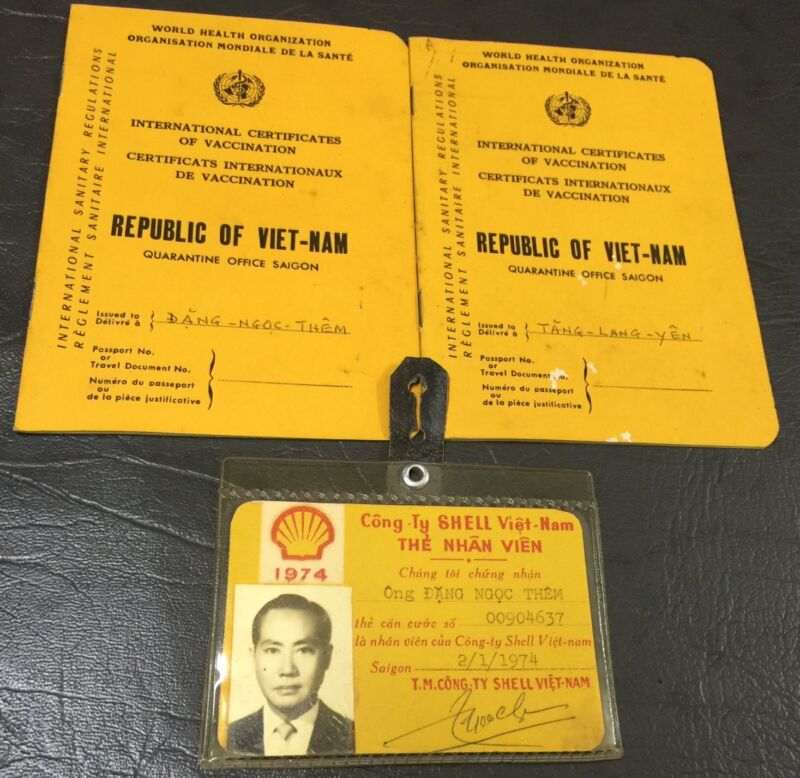 French Indochine  Officer Shell Id Card & Certificate Book one set