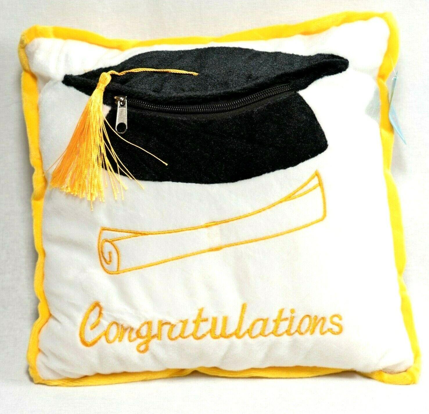 Graduation pillow cushion  12″ Soft Zippered Pocket Gift Brand NEW Home & Garden
