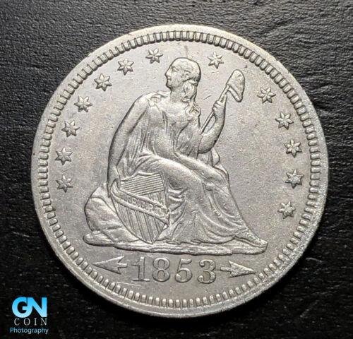 1853 P Seated Liberty Quarter  --  MAKE US AN OFFER!  #B2930