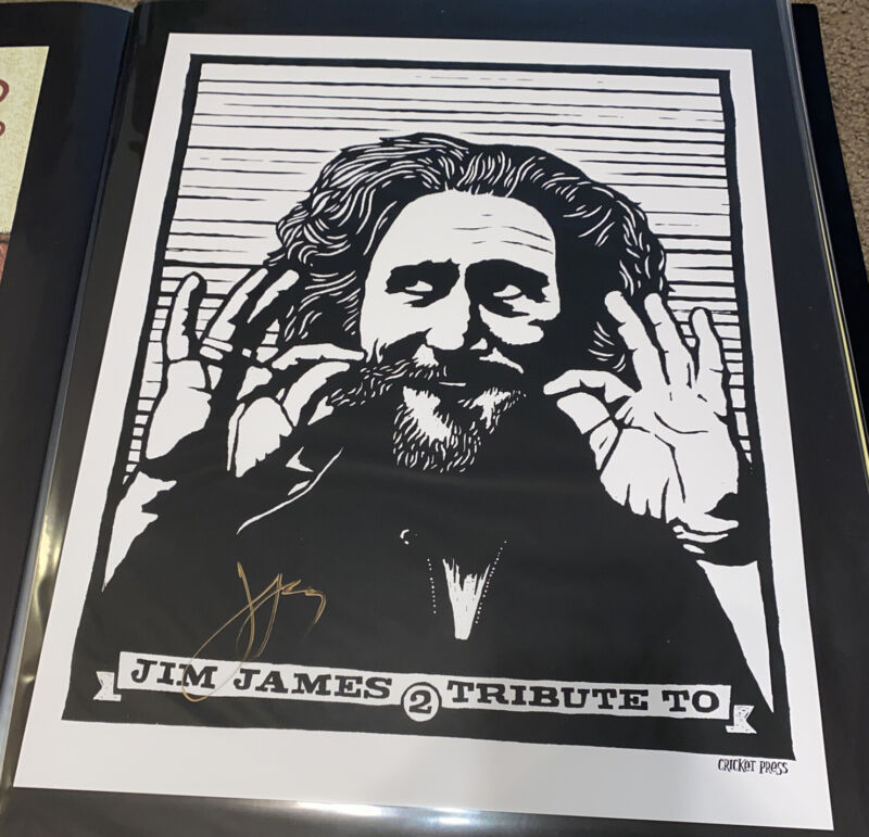 Jim James Tribute To 2 Print Poster Signed Autograph Auto Artist Pre-Order MMJ