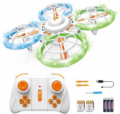 Mini RC Drone for Kids with A Remote Control 4CH LED Quadcopter for Beginners