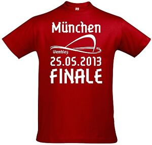 T-Shirt Finale Bayern Champions Wembley London League 2013 München Cup Pokal NEU