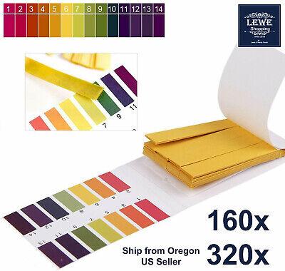 320x Ph Indicator Test Strips 1-14 Laboratory Paper Litmus Tester Urine Saliva