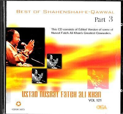 NUSRAT FATEH ALI KHAN - VOL. 121 - BEST OF SHAHENSHAH QAWWAL PART 3 - A RARE CD