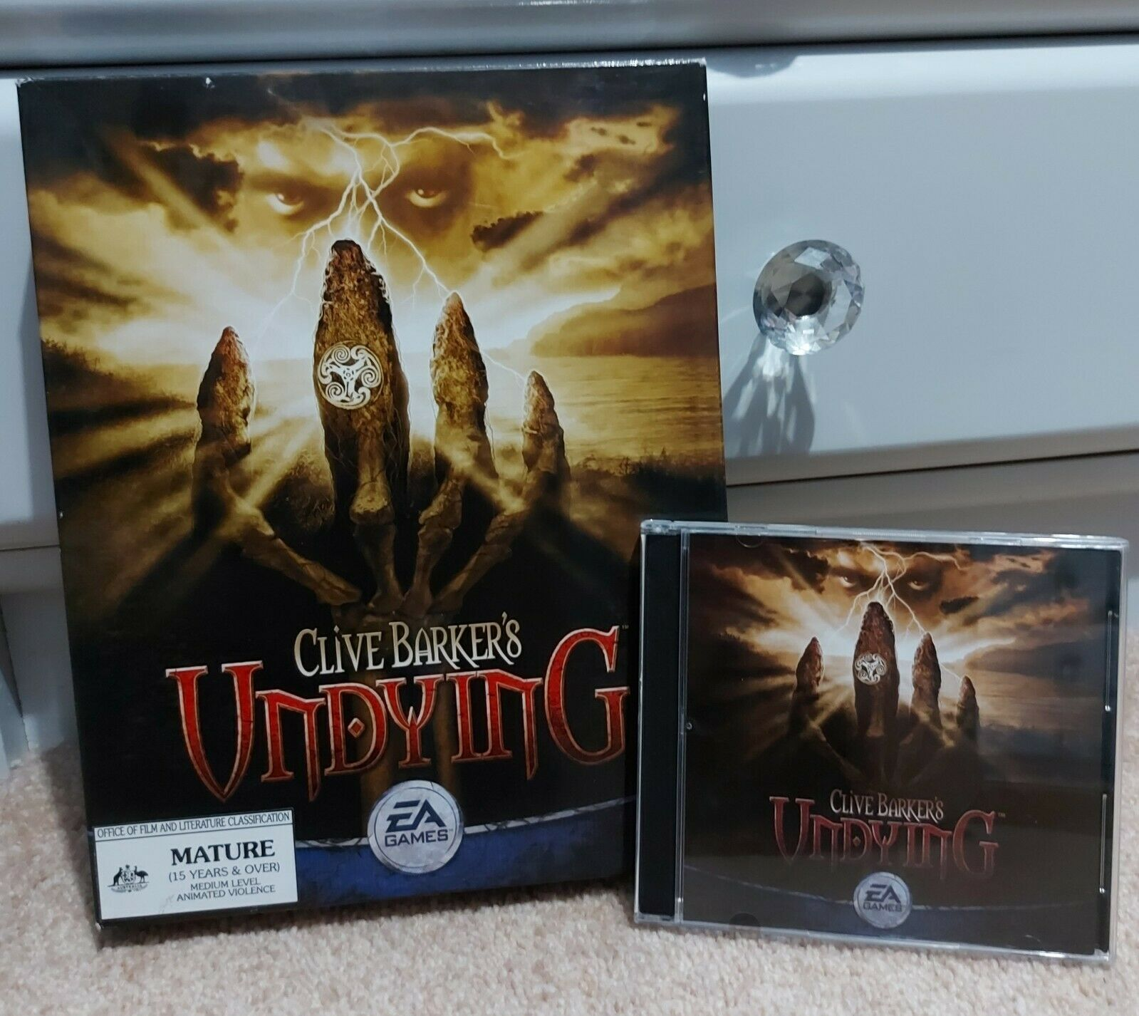Computer Games - CLIVE BARKER'S UNDYING CD-ROM PC Game Computer Vintage EA Games Big Box HORROR