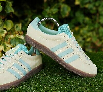 ❤ BNWB & Genuine Adidas Originals ® Padiham Trainers in Sand & Green UK Size 10