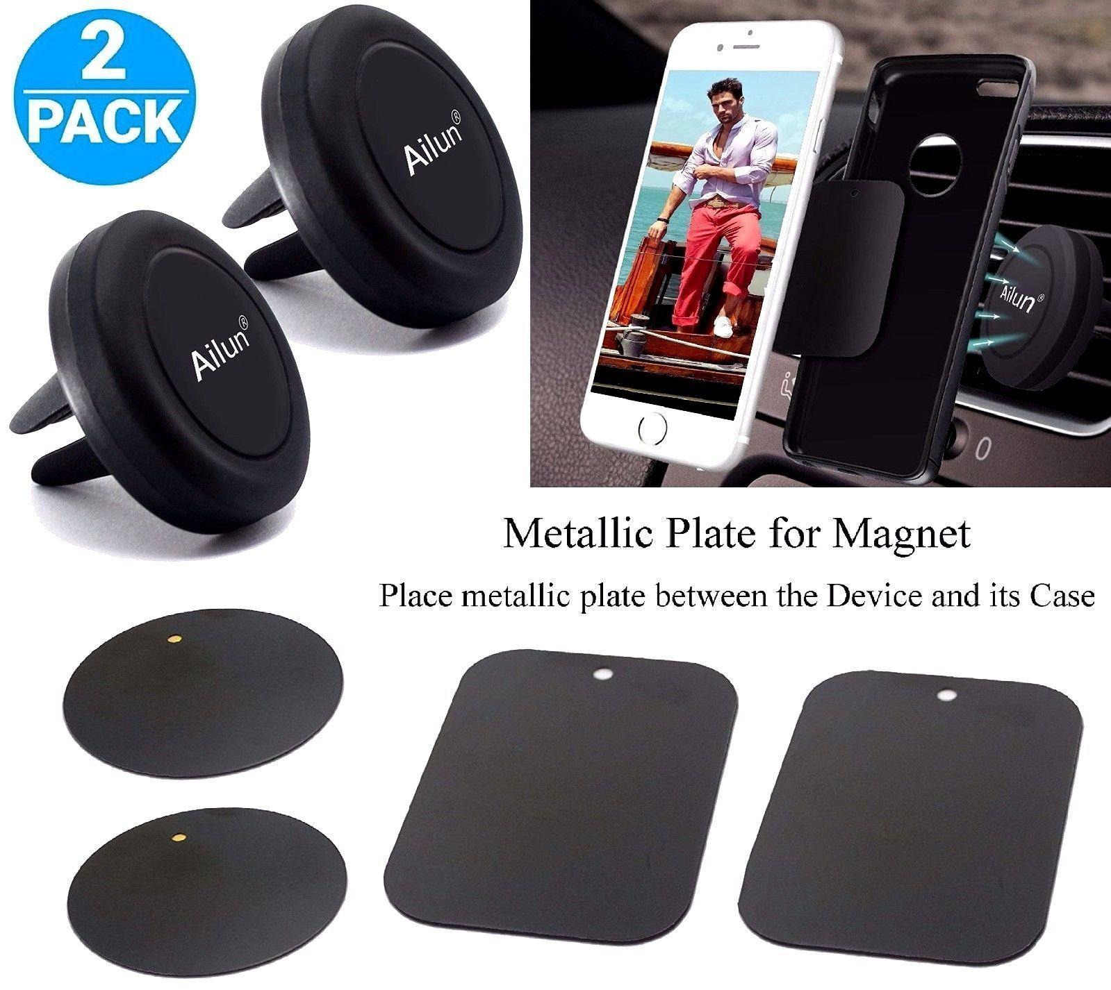 AILUN 2Pk Car Mount Magnetic Air Vent Phone Holder iPhone 7
