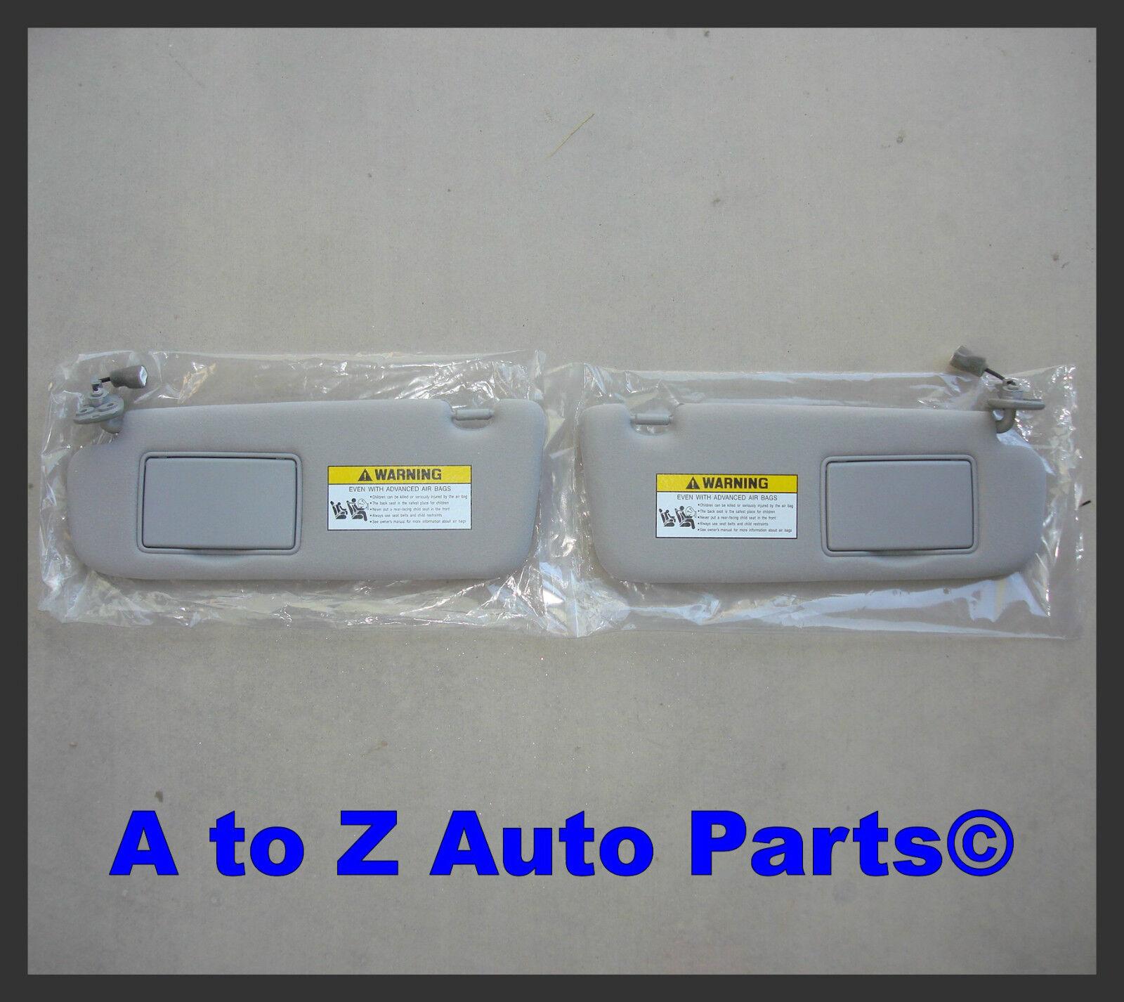 2006-2008 Hyundai Sonata Driver & Passenger Grey Sun Visors,oem Hyundai