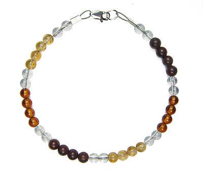 Bracelet - Balance Of Mind, Body, & Spirit 4mm Crystal Intention Beads W/card