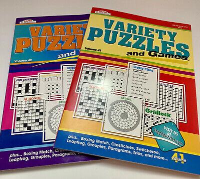 Puzzle Crossword & Games Variety 2-CT set Volumes 41 & 42 088908844001 KAPPA NEW