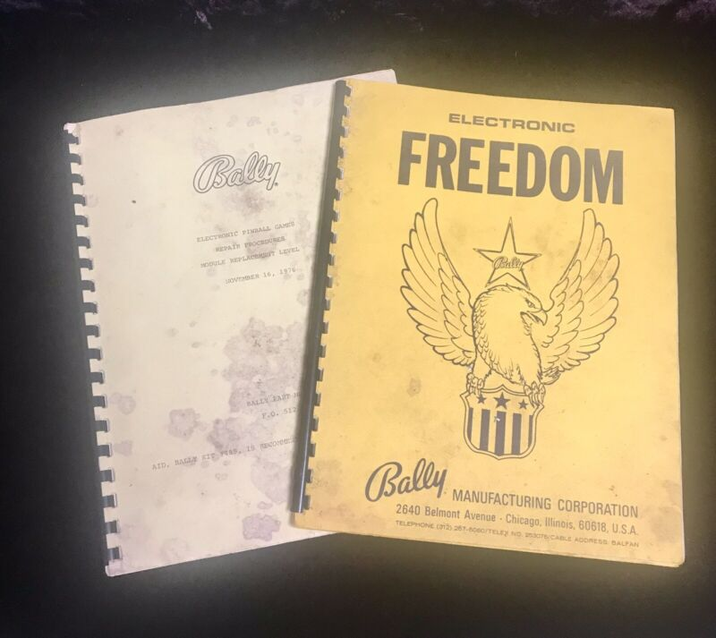 Bally Freedom Pinball Machine Manual Schematics And Bally Module Repair Manual
