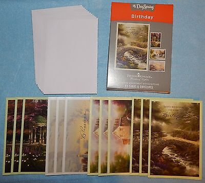 Box of 12 Birthday Cards by Thomas Kinkade {DaySpring 86068} - New (Dayspring Birthday Cards)