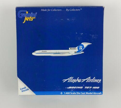 Gemini Jets Alaska Airlines Boeing 727-100 Diecast Model Aircraft 1:400 Airplane