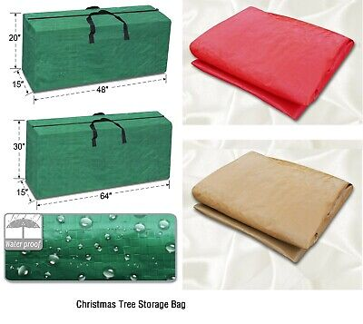 Heavy Duty Large Artificial Christmas Tree Storage Bag for Holiday Clean up ()