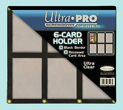 E 6 CARD SCREWDOWN HOLDER New Clear Trading Storage Display (Trading Card Frame)