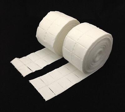 1000 Zellstofftupfer 2 x 500 Zelletten Zeletten Pads Kosmetik Nägel Entferner - 2 X Stoff
