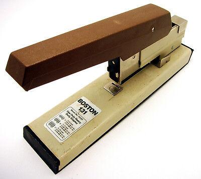 Vtg Boston Commercial Stapler 131 Heavy Duty 100 Sheet Capacity Operable