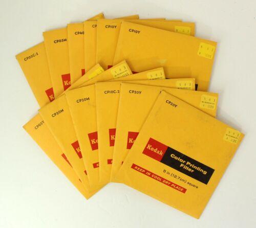 Set of 12  Kodak Color Printing Filters, 5-inch, USED